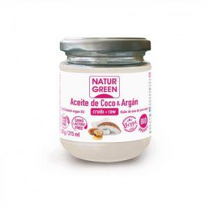 aceite de coco y argán